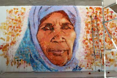 sahara mural