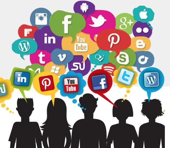 logo comunicación iconos redes