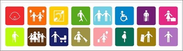 logo icono discapacidades múltiples colores