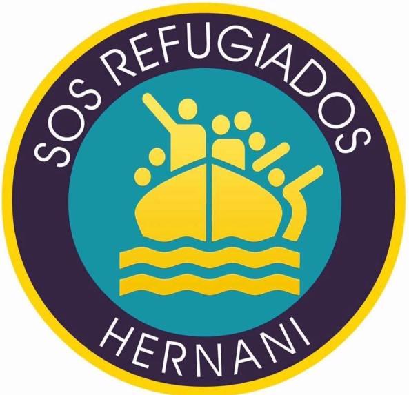 logo sos refugiados hernani handi
